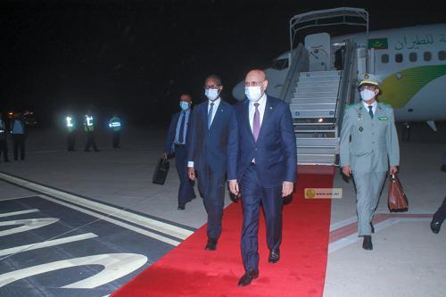 ولد الغزواني يعود إلى نواكشوط قادما من برازفيل