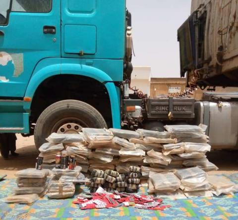 الدرك الوطني في مكطع لحجار يحبط عملية تهريب مخدرات إلى نواكشوط