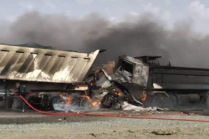 حادث مأساوي على طريق اگجوجت يؤدي إلى وفاة ثلاثة أشخاص وجريح