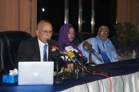 بعد عرضه التقرير السنوي لحقوق الإنسان ولد بوحبيني يعقد مؤتمرا صحفيا