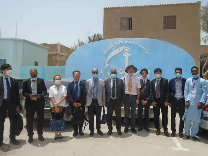 المدير العام لمؤسسة ميناء خليج الراحة يستقبل ممثل الوكالة اليابانية للتعاون الدولي في موريتانيا