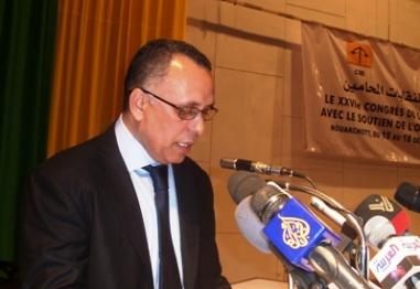 انتخاب الاستاذ ولد بوحبين رئيسا للشبكة العربية لمؤسسات لحقوق الإنسان