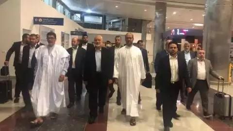 وفد من حركة حماس بزعامة هنية في زيارة لموريتانيا