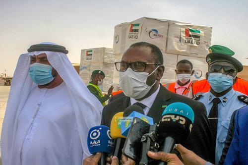 100 الف جرعة من لقاح كورونا هدية من الامارات العربية الى موريتانيا