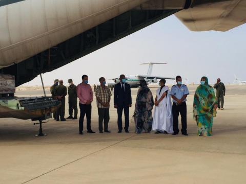 42 طن من المواد الغذائية معدات من الجزائر لموريتانيا
